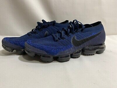 Men's Nike Air VaporMax Flyknit Midnight Navy Blue Black Low Sz 11.5 849558-400