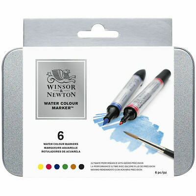 Winsor & Newton Set Of 12 Brush Tip Watercolour Markers - Art Drawing Pens