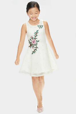 NEW Hannah Banana Easter Girls Dress Ivory Scuba w/Embroidery sz 7 Accept offers