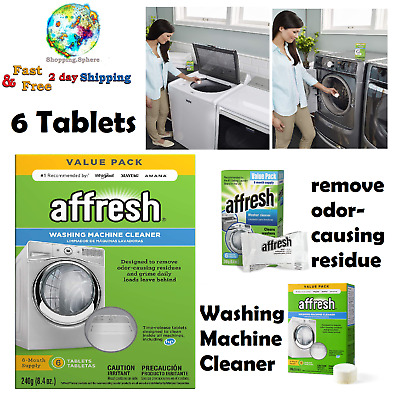 Washing Machine Cleaner Cleans Front Load Top Load Washers HE 6 Tablets New