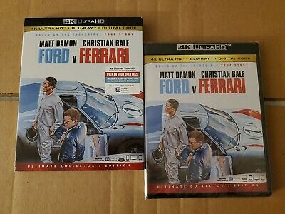 LIKE NEW!! - Ford vs. Ferrari: w/Mint Slipcover (4K Ultra HD & Blu-ray) No Code