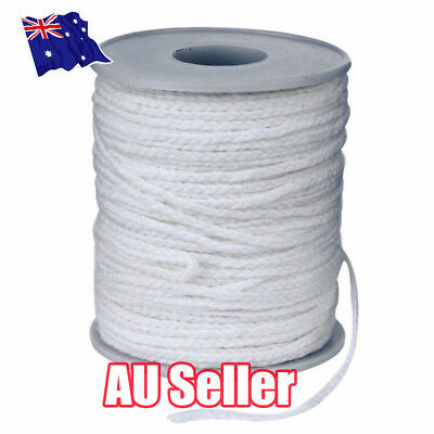 NEW 60M/Roll Spool of Cotton Square Braid Candle Wicks Wick Core Candle MakingQV