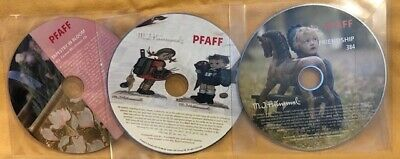 Lot of 3 PFAFF Embroidery Designs CD's 377 Tapestry~Hummel 384 & 374