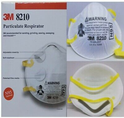 3M 8210 N95 Particulate Respirator Box Of 20