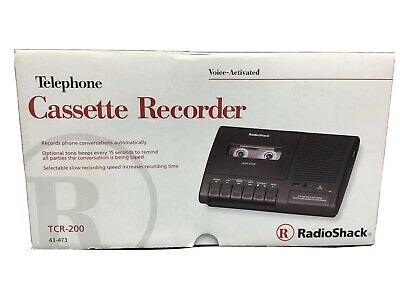 Radio Shack Telephone Cassette Tape Recorder TCR-200, Voice-Activated
