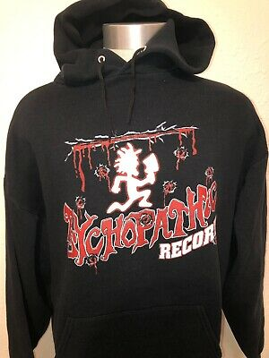 Psychopathic Records ICP Insane Clown Posse Black Hoodie Sweatshirt Size XL