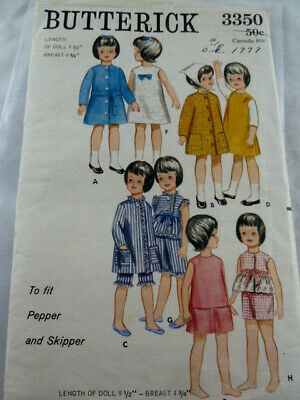 Doll Clothes Pattern 3350 Skipper Pepper Ginger Skooter Living Fluff Tiff Corky