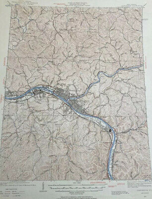 1967 Vintage Original USGS Topographical Map  Charleston West Virginia 22x27""