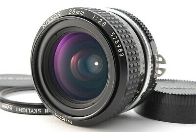【EXC++++】Nikon Ai Nikkor 28mm f/2.8 Wide Angle MF Ai Lens w/ Filter Japan #2515