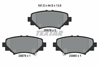 Brake Pads Set BBP2458 Borg /& Beck B4Y02648ZA B4Y02648ZB Top Quality Replacement