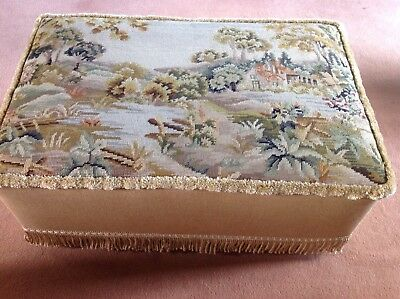 Antique Tapestry Ottoman