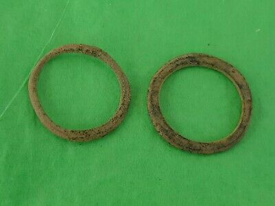Lovely pair of Celtic bronze money rings. A must read description. L30p