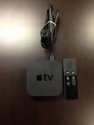 Apple TV 32GB 4th Generation Black With Remote Very Good