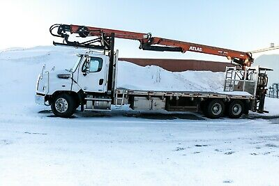 Freightliner Coronado 114SD with Atlas Crane 250CS A-16 with bench