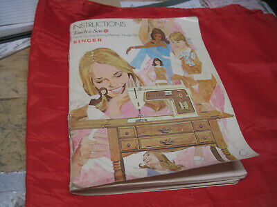 Singer Touch & Sew 758 Sewing Machine Instruction Users Manual 1970