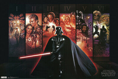Star Wars Collage Poster 24 x 36 Darth Vader Mural New