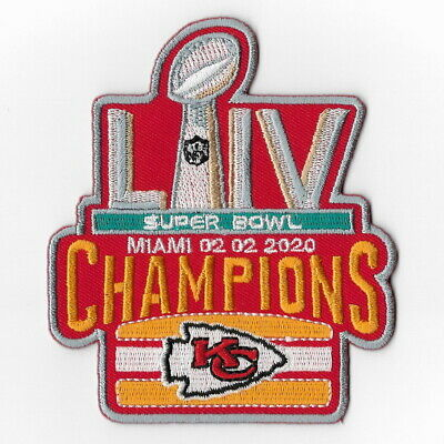 Kansas City Chiefs (n) Iron on Patch Embroidered Super Bowl LIV 54 Champion 2020