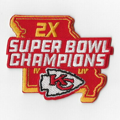 Kansas City Chiefs (o) Iron on Patch Embroidered Super Bowl LIV 54 Champion 2020