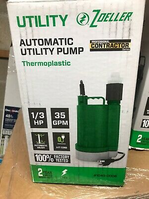 Zoeller 0.33-HP Thermoplastic Automatic Utility Pump 1043-0006