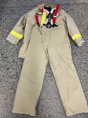Janesville Firefighter Set Jacket And Pants With Suspenders & Liner Sz 46 Jacket