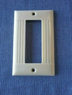 Vtg Sierra Electric Cover Plate Ribbed Ivory Bakelite Hard To Find D-9
