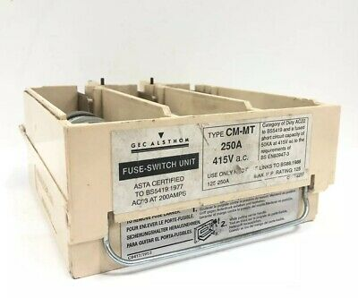 GEC Miniform ALSTHOM 250Amp CM-MT Fuse Switch Unit Carrier 125Amp-250Amp