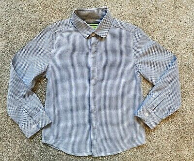 Boys Blue & White Checkered Shirt Next Age 6 Years Exc Cond