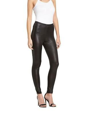Very Tall Wet Leather Look Leggings Pants Womens Party Black Size 14 Rrp £18
