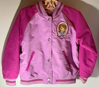 Disney Store Sofia The First Purple Jacket Girls Size 4 Embroidered Details