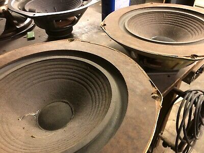 """The Advent Loudspeaker Pair 10"""" Woofers Refoamed EARLY MASONITE TYPE tested"""