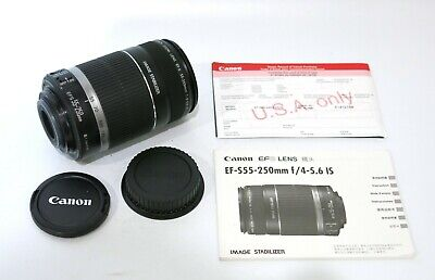 Near Mint Canon EF-S 55-250mm F/4-5.6 IS Telephoto Zoom Lens
