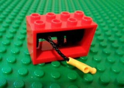 with Metal Handle Red Drum 580 377 360 364 LEGO Red String Reel Winch 4 x 4 x 2