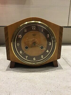 Smiths Enfield Clock Working With Key Striking Mantle Clock