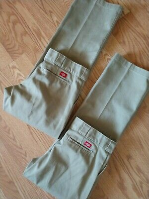 Women's Size 6 Dickies 774 Original Fit Work Pants Beige Cotton Blend (Lot Of 2)