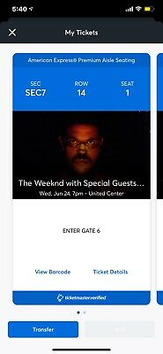 2 Tickets The Weeknd, Sabrina Claudio & Don Toliver 6/24/20 Chicago, IL