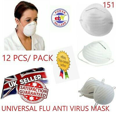 12x Anti Virus Flu Dust Pollution Medical Face Mask Metal Surgical Protect Safe