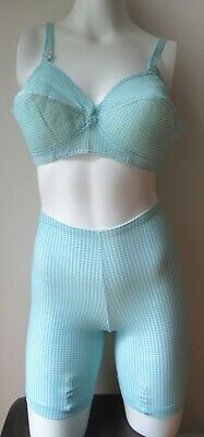 Vintage Loveable MATCHING  Bra and girdle 2 pc set from the 60's 38B/L NEW