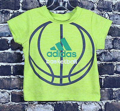 Adidas Basketball Lime Green Athletic Shirt Size 3 Months Premium Kids Graphic