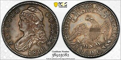 1818 Overton 111 Capped Bust Half Dollar - PCGS AU50