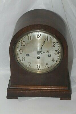 Antique JUNGHANS Wurttenberg Beehive Mantel Clock- 8 Day,Chime-Works Germany