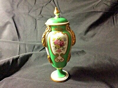 Antique Royal Crown Derby Covered Vase Urn Gold  Floral Hand Painted England M