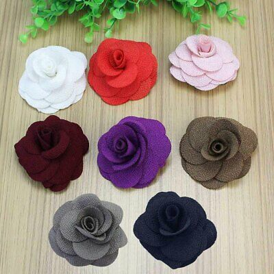 Rose Flower Feather Prom Wrist Corsage Hair Band Fascinator Pin Brooch Pick