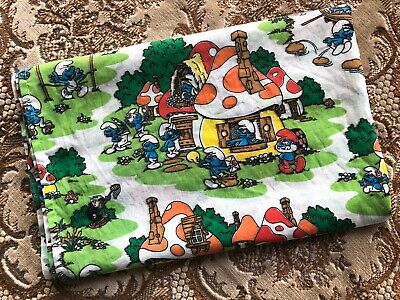 Vintage Smurfs Cotton Fabric 2M