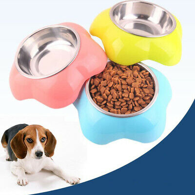 Stainless Steel Dog Pet Cats Feeding Water Bowl Attractive Funny Shape Design T