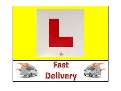 1 L Plate Motorcycle Scooter Car Lorry Sticker Learner L Plates 1 X Stick On