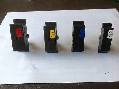 Wylex Hrc 30A 20A 15A & 5A Replacement Cartridge Fuse & Holder Old Type Rare