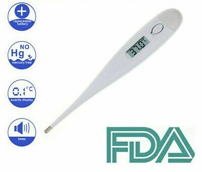 Digital Baby Thermometer Fever Auto Off LCD Accurate Oral First Aid Child Adult