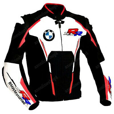 BMW Motorcycle Leather Jackets Biker Racer Motorbike Sports Armor Protective NEW