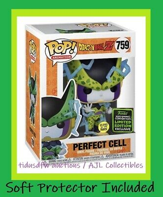 Funko Pop! Animation PERFECT CELL GITD Glow ECCC Shared Exclusive DBZ PREORDER