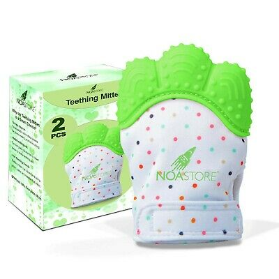 Teething Mittens for Baby Set of 2- Infant Teething, Baby Glove Teether Toys ...